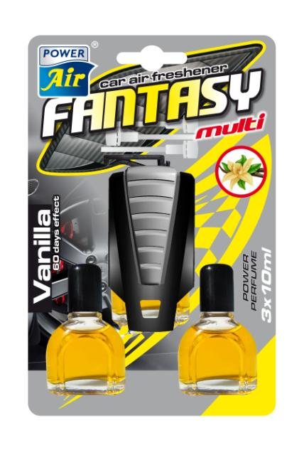 Power Air Fantasy Multi osviežovač vzduchu 3x10 ml Vanilla