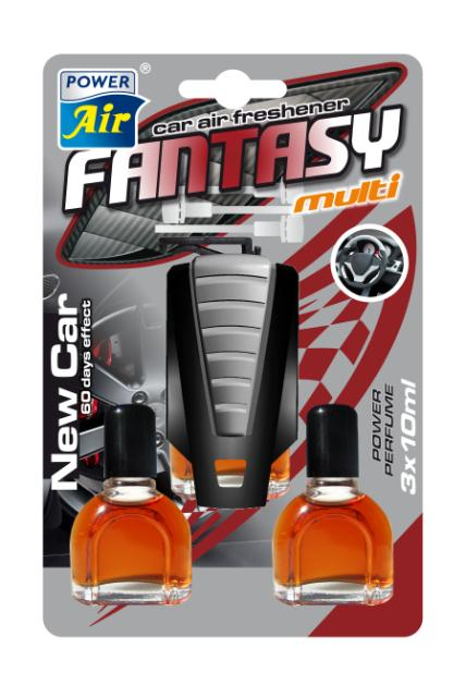 Power Air Fantasy Multi osviežovač vzduchu 3x10 ml New car
