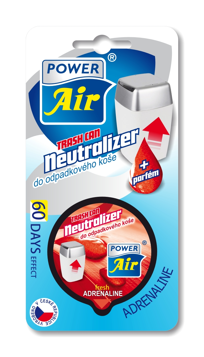 Power Air Neutralizer pohlcovač pachov do koša Adrenalin