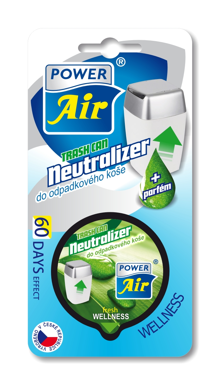 Power Air Neutralizer pohlcovač pachov do koša Wellnes