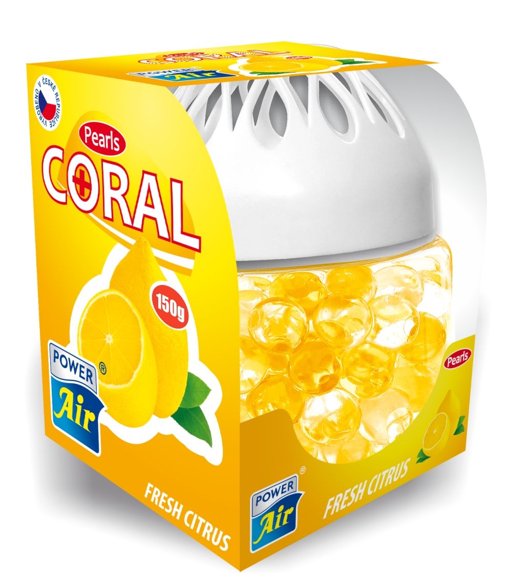 Power Air Coral pearls+ osviežovač vzduchu 150 g Fresh Citrus